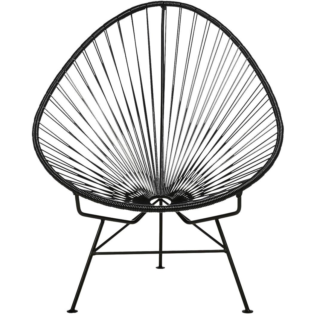 acapulco chair pvc black ibiza interiors. Black Bedroom Furniture Sets. Home Design Ideas