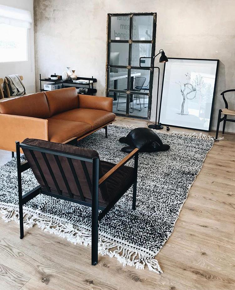 Azilal Berber Black Carpet Ibiza Interiors
